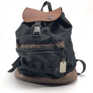 Vintage Jansport leather bottom backpack